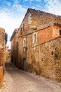 Catalan village la pera catalonia old picturesque houses in Stock Photo