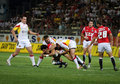 Catalans Dragons vs Celtic Crusaders Stock Image
