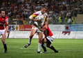 Catalans Dragons vs Celtic Crusaders Stock Images