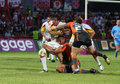 Catalans Dragons vs Hull KR Stock Images