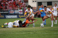 Catalans Dragons vs Hull KR Royalty Free Stock Photo