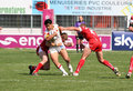 Catalans Dragons vs Salford City Reds Royalty Free Stock Images