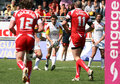 Catalans Dragons vs Salford City Reds Stock Photos