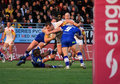 Catalans Dragons vs Wigan Warriors Royalty Free Stock Image