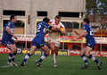 Catalans Dragons vs Wigan Warriors Stock Photo