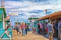 Catalina Island Avalon Pier Royalty Free Stock Photo
