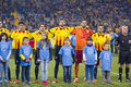Catalonia national soccer team the football of beat cape verde at the annual christmas friendly match in lluís companys olympic Stock Images