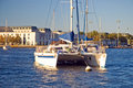 Catamaran at Annapolis Stock Photo