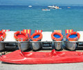 Catamaran boats on lake Royalty Free Stock Photo