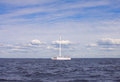 Catamaran en mer Photographie stock
