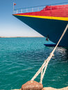 Catamaran passenger ferry in heraklion port moored crete greece Stock Photos