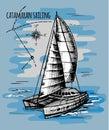 Catamaran sailboat regatta summe