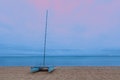 Catamaran on a sandy beach Royalty Free Stock Photo