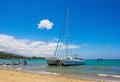 Catamaran waikoloa beach big island hawaii Royalty Free Stock Photo