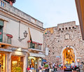 The Catania Gate in Taormina Royalty Free Stock Photo