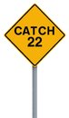 Catch 22 Ahead Royalty Free Stock Image
