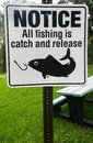 Catch and Release Notice Sign Royalty Free Stock Photo