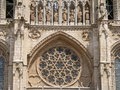 Catedral de burgos spain western facade detail of the gothic cathedral in construction of gothic cathedral began in and spanned Royalty Free Stock Image