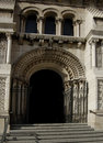 Catedral de la Almudena, Madrid. Arch entry Stock Photography