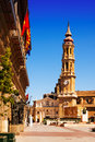 Catedral de la seo in zaragoza aragon san salvador Royalty Free Stock Photography