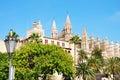 Catedral de Palma de Majorca Fotografía de archivo