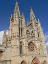Catedral de santa maria burgos spain western facade of the gothic cathedral in construction on gothic cathedral began in and Stock Photography