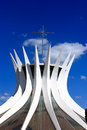 Catedral metropolitana nossa senhora aparecida the metropolitan cathedral of brasilia city capital of brazil unesco world heritage Royalty Free Stock Images