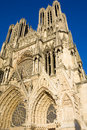 Catedral Notre Dame, Reims Fotos de Stock Royalty Free