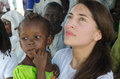 Caterina murino matam senegal circa november actress with an african child in her arms participate with the authorities at a Royalty Free Stock Photography