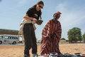 Caterina murino matam senegal circa november actress buy ceramics from a lady senegal is the testimonial of the ngo amref Stock Images