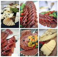 Catering collage Royalty Free Stock Images
