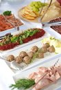 Catering food table with various Royalty Free Stock Photography