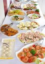 Catering food table with various Royalty Free Stock Photo