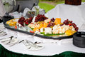 Catering food at a wedding party Royalty Free Stock Photo