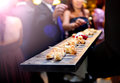 Catering service. Modern food or appetizer for events and celebrations. Royalty Free Stock Photo