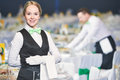 Catering service. waitress on duty Royalty Free Stock Photo