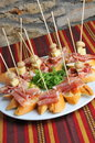 Catering snacks appetizers or finger food Stock Photo