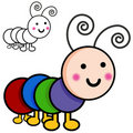 Caterpillar Cartoon Bugs Royalty Free Stock Image