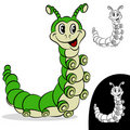 Caterpillar Cartoon Character Stock Photo
