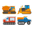 Caterpillar vehicle tractor vector Royalty Free Stock Photo