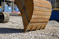 Caterpillar at work a picture of digger detail Stock Photos