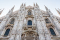 The cathedra of milan cathedral in center Stock Image