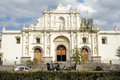 The cathedral of antigua on guatemala Royalty Free Stock Images