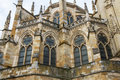 Cathedral apse and stained glass exterior view of the gothic of león spain Stock Photography