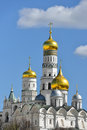 Cathedral of archangel archangel michael and ivan great bell tower moscow kremlin in russia Royalty Free Stock Image