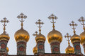 Cathedral and the archangel in moscow kremlin Stock Photo