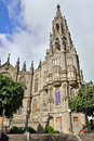 Cathedral in arucas view on medieval beautiful parish church of san juan bautista impressive gothic gran canaria spain Stock Images