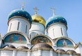 Cathedral of the assumption of the blessed virgin mary holy trinity st sergiev posad moscow region Stock Image
