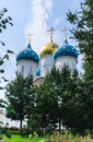 Cathedral of the assumption of the blessed virgin mary holy trinity st sergiev posad moscow region Stock Photos