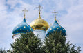 Cathedral of the assumption of the blessed virgin mary holy trinity st sergiev posad moscow region Royalty Free Stock Photography